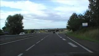 preview picture of video 'Driving Along Rue de Lattre de Tassigny & Le Pont Gato, Pordic, Brittany, France 26th August 2011'