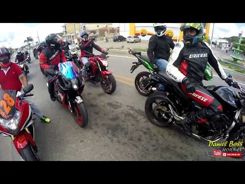 Rolê a Barra de Santana, mais de 10 motos, Grau e borrachão