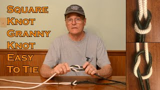 Square Knot and Granny Knot Learn to tie both