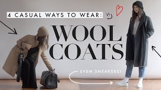 Casual Ways To Style Wool Coats | Comfy & Chic