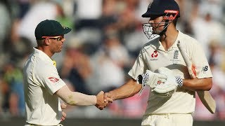 Standing ovation! Every member Australia team shakes Alastair Cook's hand after double hundred