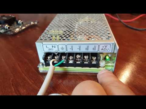 How to hook up Mean Well Regulated power supply to Sure Amp Board