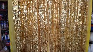 MRG Sequins Backdrop Big Gold