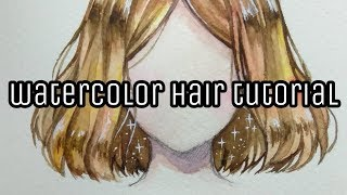 How to color hair with watercolors | Watercolor hair tutorial