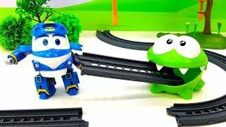 Ам Ням и игрушки машинки - Детские мультики без слов