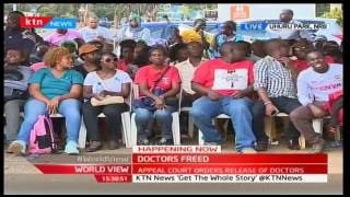 CORD Leader Raila Odinga joins striking Doctors' in solidarity for their CBA argument to be met