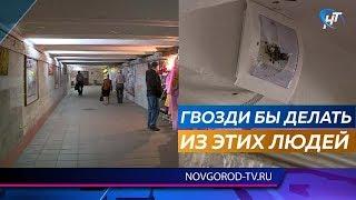 От рук вандалов снова пострадал подземный переход на Федоровском ручье