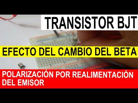 Transistor Bipolar o BJT 14 polarización estabilizado en emisor efecto del beta.