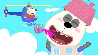 Baby Wolf Makes Pando Become Giant And Playhouse Is Broken | Wolfoo Channel