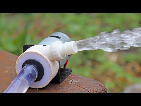 How to make Powerful Water Pump 12volt With 775 Motor