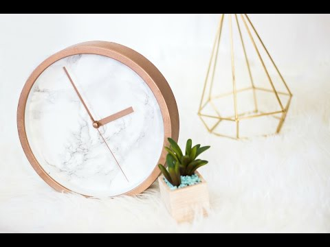 DIY Rose Gold Marble Clock Mp3