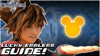 Kingdom Hearts 3 - COMPLETE GUIDE: All 90 Lucky Emblems / Hidden Mickeys