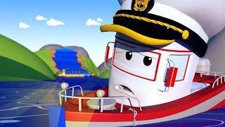 Policejní auta pro děti - Člun Bobby a vodopád Město Aut!