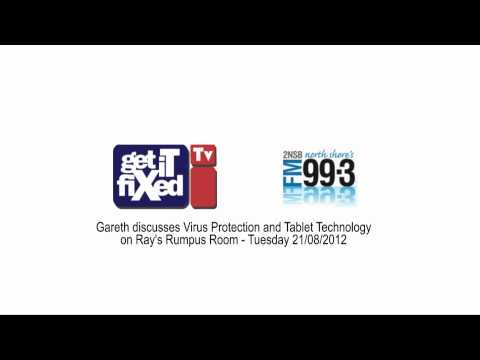 Antivirus protection, Tablets & Ipads -  discussion on Northside FM99.3 with Ray Shoostovian
