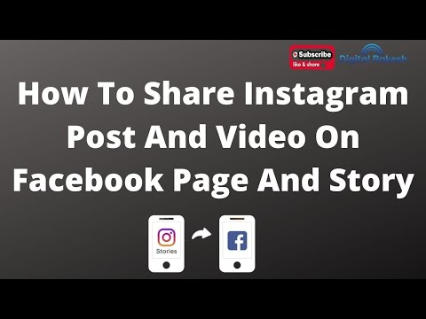 How to share instagram post and video on facebook page and story 2020