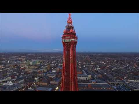 blackpool-tower--promenade--by-drone