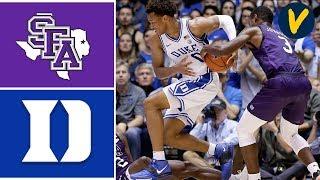 2019 College Basketball Stephen F Austin vs #1 Duke Highlights