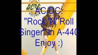 "AC/DC ""Rock 'N' Roll Singer"": Retuned A-440 Version"
