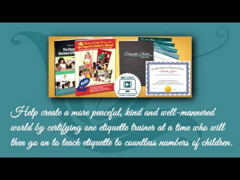 How to Teach Children Etiquette - Certified Children Etiquette Trainer