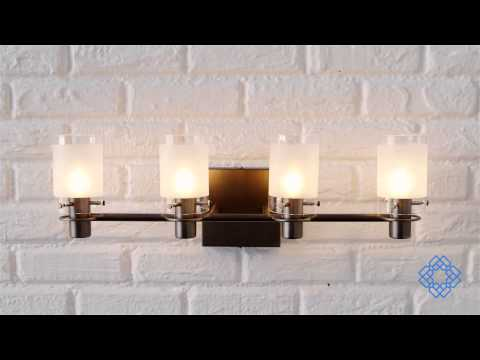 Video for Pierce II Four-Light Bath Fixture