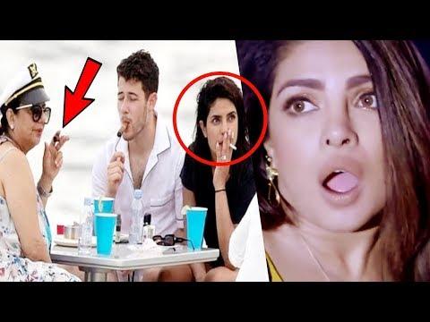 OMG Priyanka Chopra & MOM smokes on yacht in Miami | Trolls ask asthma sirf Diwali mein hota hai?