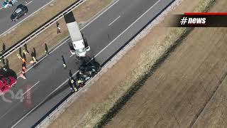 Wypadki Na A1. Autostrada Zablokowana