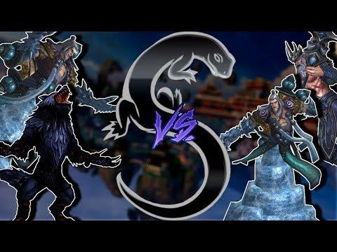 Smite Masters Ranked 1v1 Fenrir/He Bo vs. He Bo/Poseidon