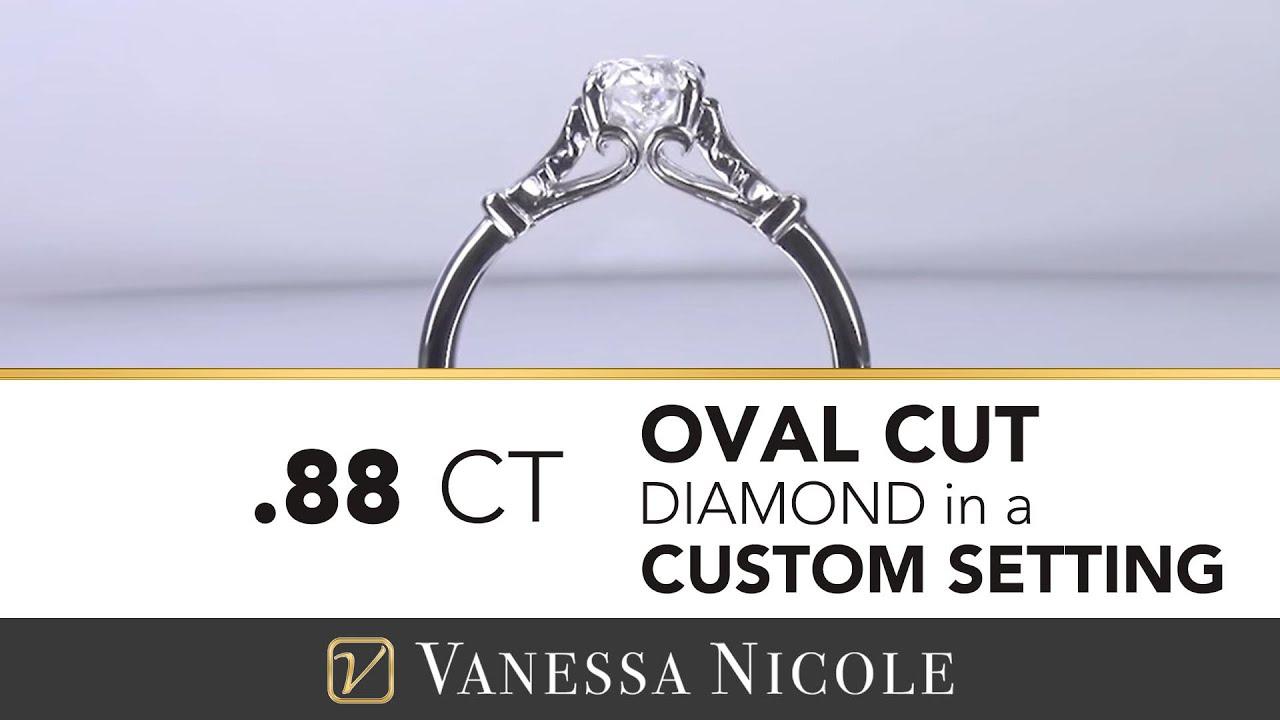0.88ct Oval Cut Diamond Ring