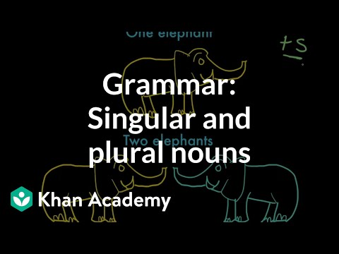 Introduction To Singular And Plural Nouns Video Khan Academy