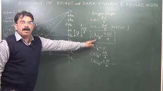 Fringe Width, Positions Of Bright & Dark Fringes - Wave Optics 9