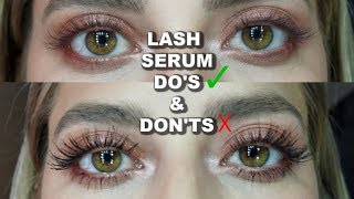 THE TRUTH ABOUT LASH SERUM AND GROWING LONG LASHES!