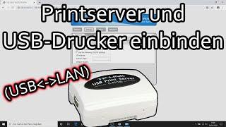 TP-Link Printserver einrichten - USB-Drucker im Netzwerk (TL-PS-110U)