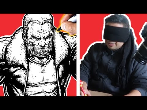 DRAWING while BLINDFOLDED ART CHALLENGE! The BIRD BOX Challenge!