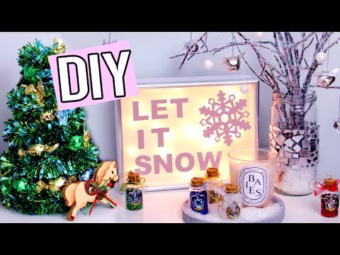 DIY Christmas & Winter Decorations! Light up sign, Edible Tree & more! Cute Holiday projects!