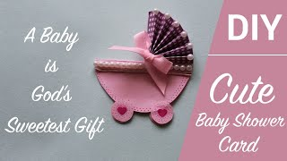 Baby Shower Cards Ideas - Cute and Easy Baby Carriage Stroller Card