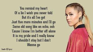 Alan Walker & Julie Bergan - I DON'T WANNA GO (Lyrics)