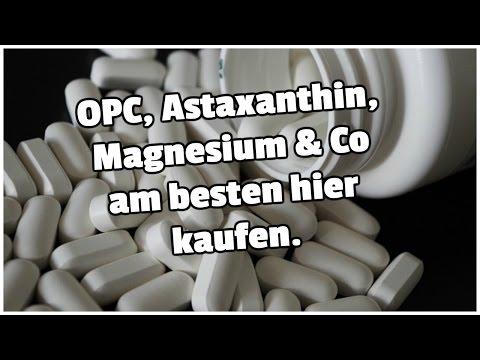 OPC, Astaxanthin, Magnesium & Co am besten hier kaufen.
