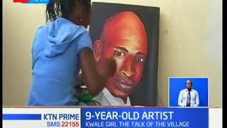 9 year old Shila Shalon is an art enthusiast who is now the talk of her village in Kwale county