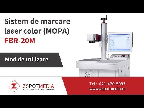 Marcare laser color cu sistemul MOPA FBR-20M