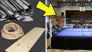 HOW TO BUILD A PRO WRESTLING RING 2.0   Timelapse of a WWE Style Wrestling Ring Setup   #timelapse