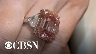 "19-carat ""Pink Legacy"" diamond sells for $50M at auction"