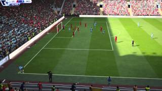 preview picture of video 'FIFA 15 : Livelpool VS Manchester City PS4'