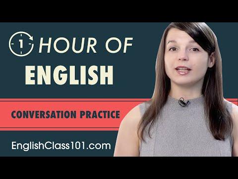 1 Hour of English Conversation Practice - Improve Speaking Skills ...
