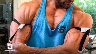 Back & Blood Flow Restriction Biceps Workout | Mike Hildebrandt by Bodybuilding.com