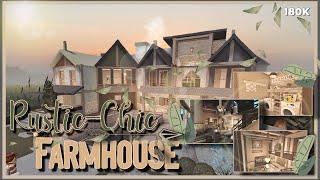 Bloxburg Rustic-Chic Farmhouse Speedbuild