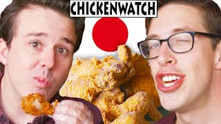 This week the fried chicken guys try some karage-style chicken from Tokyo Fried Chicken Co. and learn the true meaning of family.   Check out more awesome videos at BuzzFeedVideo! https://bit.ly/YTbuzzfeedvideo https://bit.ly/YTbuzzfeedblue1 https://bit.ly/YTbuzzfeedviolet  GET MORE BUZZFEED: https://www.buzzfeed.com https://www.buzzfeed.com/videos https://www.youtube.com/buzzfeedvideo https://www.youtube.com/boldly https://www.youtube.com/buzzfeedblue https://www.youtube.com/buzzfeedviolet https://www.youtube.com/perolike https://www.youtube.com/ladylike  BuzzFeedVideo BuzzFeed Motion Picture's flagship channel. Sometimes funny, sometimes serious, always shareable. New videos posted daily!  MUSIC SFX Provided By AudioBlocks (https://www.audioblocks.com)  Licensed via Audio Network  STILLS chicken time fast food vector illustration UVAconcept/Getty Images Human cartoon eyes emoticons symbols Seamartini/Getty Images funny cartoon faces with emotions TobyBridson/Getty Images vector cartoon isolated soy sauce petite_lili/Getty Images Fresh Ginger Root Hennadii/Getty Images Garlic bulb icon RedlineVector/Getty Images stick figure people dance TobyBridson/Getty Images Chicken mascot DimaChe/Getty Images Japanese paper, washi Katsumi Murouchi/Getty Images turkey leg fist Big_Ryan/Getty Images Cock Emblem Dimache/Getty Images Blossom Tree - Oriental Style Painting Kaligraf/Getty Images Red Origami Set SongSpeckels/Getty Images Chicken Lollipop Cartoon Set C CandO-Designs/Getty Images  VIDEO Hand farmer checking grain grow at paddy field, Slow motion Photokanok/Getty Images firework animation pupunkkop/Getty Images Scroll opening animation geopaul/Getty Images Screaming cock luckpics/Getty Images feather where it dances asterism-d/Getty Images Chicken with luma matte antorti/Getty Images Chicken moving animal greens screen (loopable) selamiozalp/Getty Images The curtain on the stage.  The animation is looped. natleek/Getty Images  Credits: https://www.buzzfeed.com/bfmp/vide