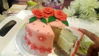 #Fondant Cake Full Recipe With Sponge Cake Recipe By Cook Like Ayesha