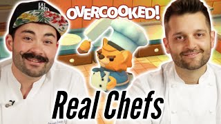 Real Chefs Attempt To Cook Together In Overcooked • Professionals Play