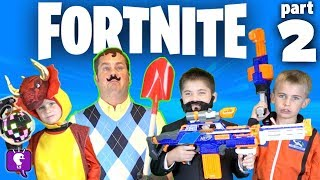 Hello Neighbor in FORTNITE Adventure with HobbyKids In the Game PART 2