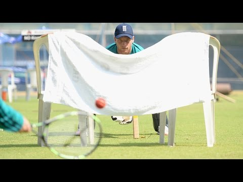 Tennis wicketkeeping drills with Jos Buttler